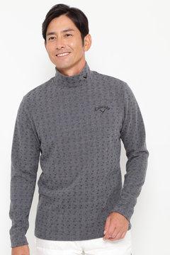 【石川プロ着用】SELECT ピラミッド ジャガード織り ハイネックシャツ (MEN'S)