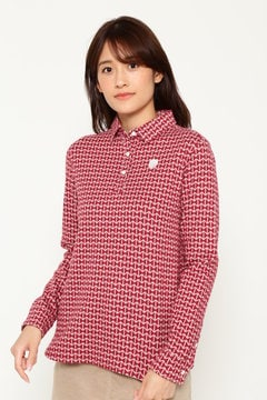 SELECT 微起毛 リボン柄 カラーシャツ(WOMENS)