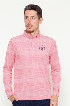 グレンチェックジャカード ボタンダウンカラーシャツ(MENS)