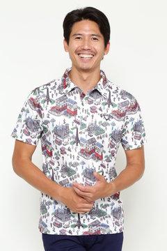 キャロウェイ デジタルパリプリントレギュラーカラーシャツ