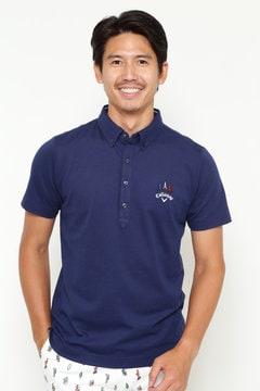 【石川プロ着用】キャロウェイ ファイン鹿の子B.D.カラーシャツ(MENS)