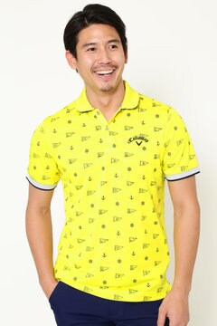 モノグラムプリント ポロシャツ (MENS)