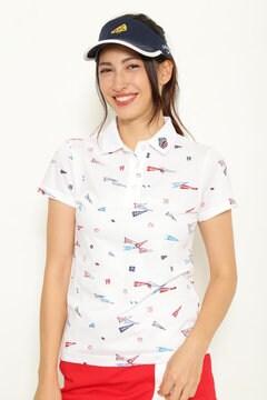 ペナントプリント ポロシャツ (WOMENS)