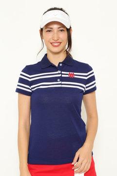 パネルボーダー ポロシャツ(WOMENS)