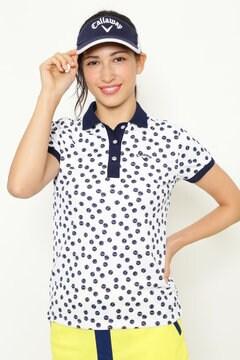 テニスボールドットプリント ポロシャツ (WOMENS)