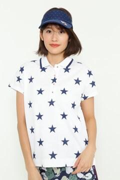 【3月発売予定】BEAR 星柄プリントポロシャツ(WOMENS)