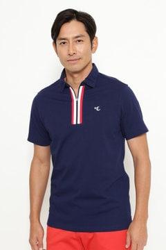 ハーフジップレギュラーカラーシャツ (MENS)