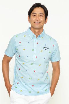 モチーフプリント ボタンダウンカラーシャツ (MENS)