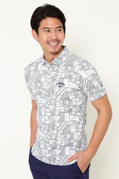 フラッグプリント ワイドカラーシャツ (MENS)