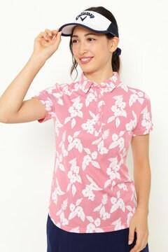 花ストライプジャカードシャツ (WOMENS)
