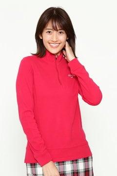 長袖ジップアップハイネックシャツ (WOMENS)