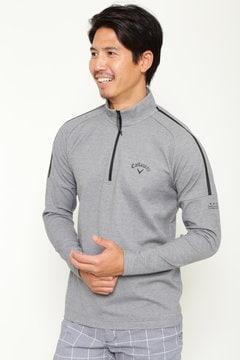 【石川プロ着用】ストレッチスムースハーフジップシャツ (MENS)