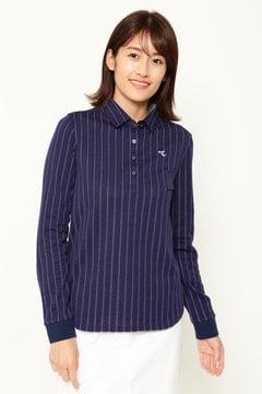 ストライプ柄カラーシャツ (WOMENS)
