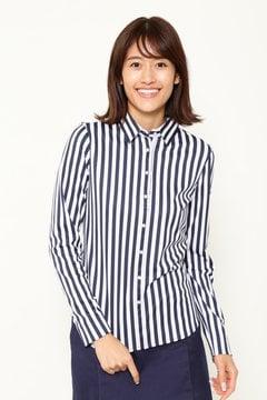BEAR ストライプカラーシャツ (WOMENS)