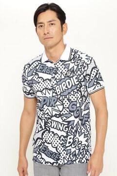 フェイクカノコ 半袖 ポロシャツ<アメコミ風パターン>