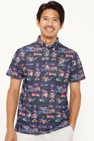 スパンカノコ 半袖 ポロシャツ <ネオンプリント>