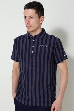 ジャガードストライプ ポロシャツ