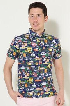 マッププリント ポロシャツ