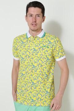 ポリコットカノコ プリント半袖ポロシャツ