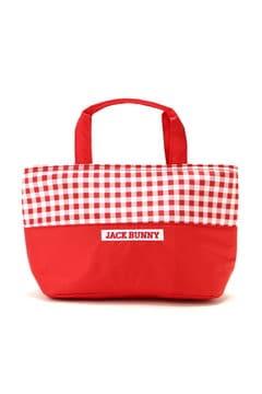 【Jack Bunny!!SALE品2点以上30%OFF】ギンガムチェック 保冷トートバッグ