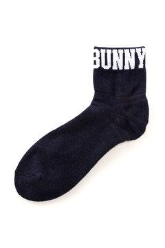 【Jack Bunny!!SALE品2点以上20%OFF】リブロゴショート ソックス (MENS)