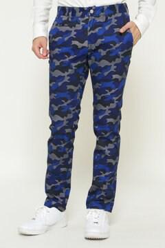ツイルストレッチ カモ プリント パンツ