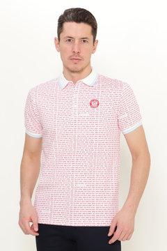 ロゴボーダー ポンチ 半袖 ポロシャツ