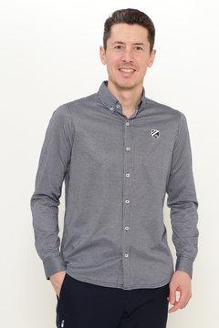 スーピマ / コードレーン 長袖 ボタンダウン カットソーシャツ
