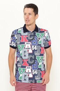 policotto ロゴクレイジープリント 半袖 ポロシャツ <クレイジーロゴシリーズ>