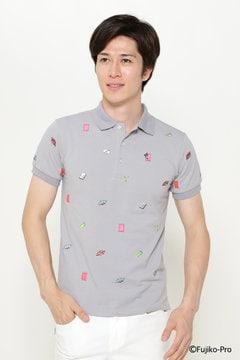 【ドラえもん】COOLMAX ひみつ道具エンブ カノコ 半袖ポロシャツ
