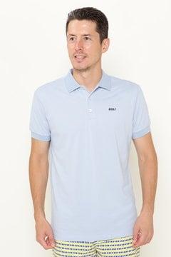 バックプリント カノコ 半袖ポロシャツ
