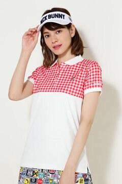 ボルテックス ギンガムプリント 半袖ポロシャツ