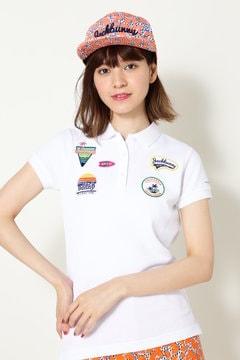 ワッペン ワッフル半袖ポロシャツ