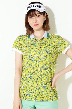 ポリコット カノコ プリント 半袖ポロシャツ