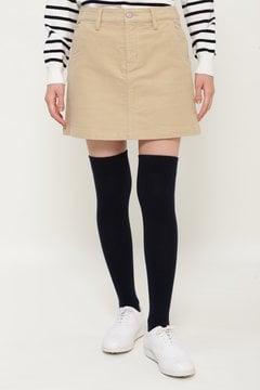 【JackBunny!!SALE品2点以上20%OFF】ストレッチモールスキン ミニスカート