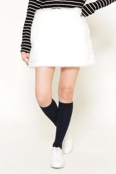 【JackBunny!!SALE品2点以上20%OFF】フェイクファー ミニスカート