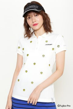 クールマックスカノコ 鈴刺繍 半袖ポロシャツ<ドラえもん>