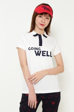 ロゴ カノコ 半袖 ポロシャツ