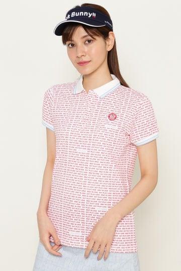ロゴボーダー ポンチ 半袖ポロシャツ