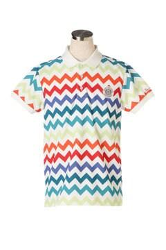 ドライカノコ 半袖ポロシャツ<ジグザグ柄>
