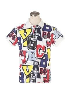 ポリコット ロゴ クレイジープリント 半袖 ポロシャツ<クレイジーロゴシリーズ>