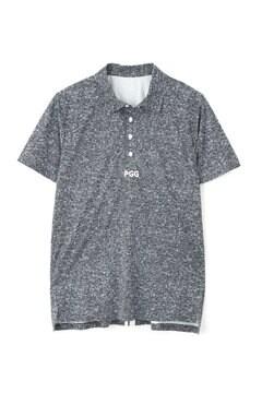 【PGG】超軽量天竺×布帛風ミニインレイ 半袖 ポロシャツ (MENS)