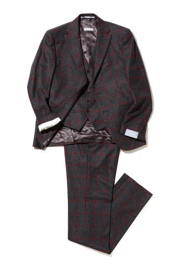 CANTARELLI フラノウィンドウペン2B3Pスーツ