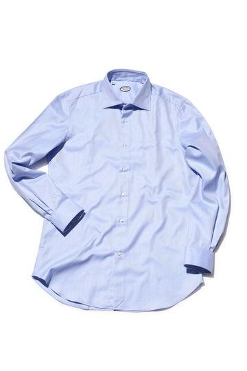 VINCENZO DI RUGGI コットンヘリンボーンドレスシャツ
