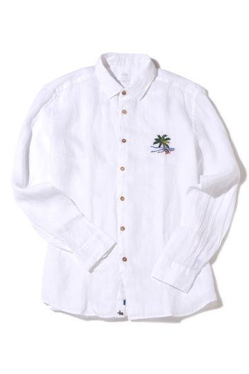 ALTEA PALMTREEエンブロイダリーシャツ1
