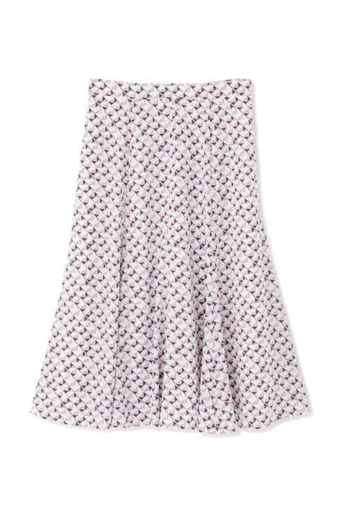 [ウォッシャブル]ジオメトリックプリントスカート