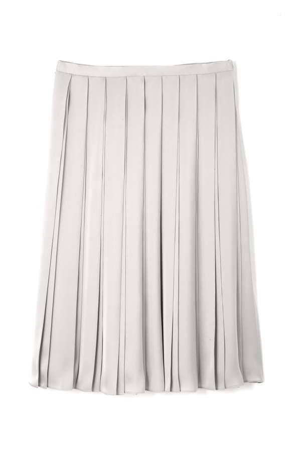 75dサテン広幅プリーツスカート