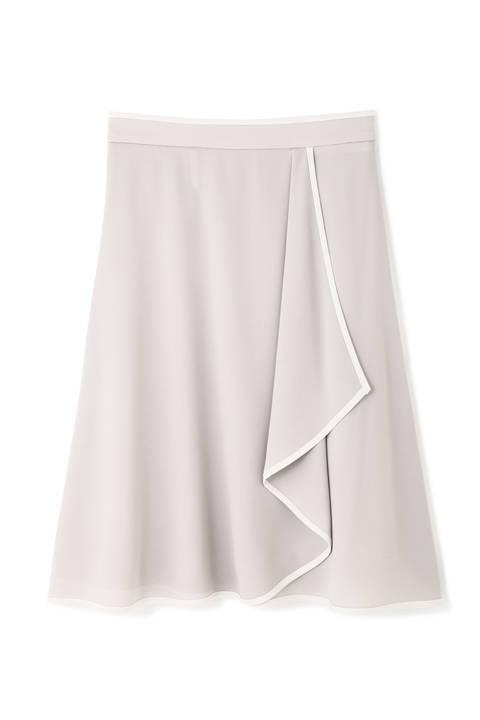 【宇賀なつみさん着用】[ウォッシャブル]スポンジージョーゼットスカート