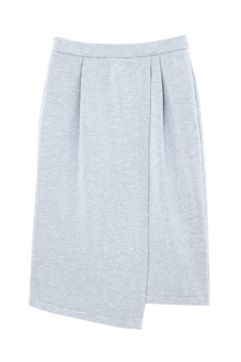 ニットセットアップラップタイトスカート