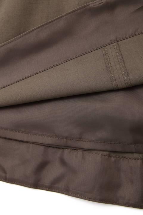麻混サイドボタンスカート